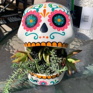 Day of the Dead Skull Vase